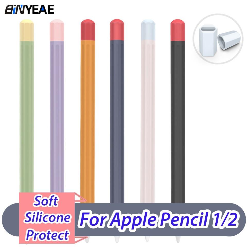 Caso anti perdido para o lápis de maçã 1/2 caso de silicone macio para ipad tablet caneta toque stylus capa protetora lápis de silicone
