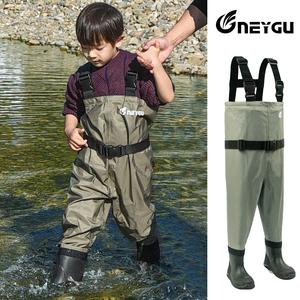 Image 3 - NEYGU kids Waterproof wading pants with Winter Boots, Breathable Kids huting Waders for Fishing and Water Playing
