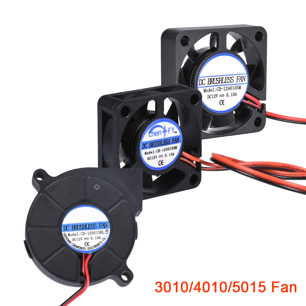3D Printer Parts 3010 <font><b>4010</b></font> 5015 Cooling Fan 12V 24V 5V <font><b>Blower</b></font> Fan Turbo Brushless Fan For V5 V6 Hotend Bowden Extruder J-head image