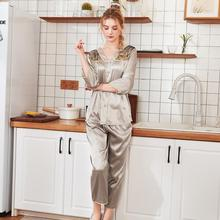 Sexy Pajamas Women Spring Sleep Lounge Pajama Sets Sleepwear