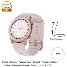 2020 Huami Amazfit GTR 42 мм rosa для разных видов спорта Для женщин Смарт-часы, украшенное мозаикой из драгоценных камней, 12 дней время работы в режиме ож...