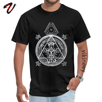 Men's T-shirts Arcane Circle Custom T Shirt Java O-Neck Peru Sleeve Customized Tops Shirts Summer/Autumn image