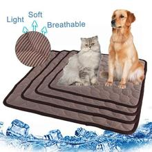 Pet Mat Summer Mat Cool Pad Durable Light Breathable Cotton Heat Relief Cushion Cooler Bed Dog good jade mat natural tourmaline cushion health care pad tourmaline heat physical therapy cushion heat free shipping