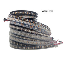 5m WS2812B Led Strip 30/48/60/144 pixels/leds/m WS2812 Smart RGB Led Light Strip Black/White PCB IP30/65/67 DC5V