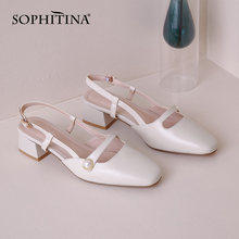 Sophitina женские модные сандалии высокого качества из воловьей