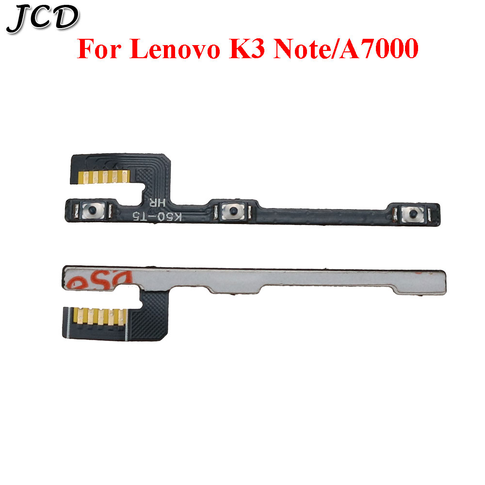 JCD Replacement Power ON OFF <font><b>Volume</b></font> <font><b>Button</b></font> Switch Flex Cable For <font><b>Lenovo</b></font> <font><b>A7000</b></font> K3 NOTE K50 T5 K50-T image
