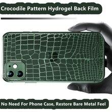 Crocodile Pattern Hydrogels Back Film for IPhone 12 Mini 11 Pro Max Screen Protectors IPhone X XS Max 6 7 8 Plus SE 20 Not Glass