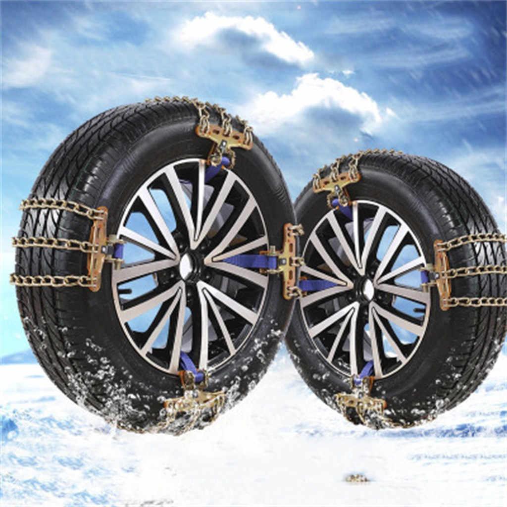 Cinturón antideslizante para coche, ruedas de camión de invierno, neumáticos, cadenas de hielo para nieve, cadena de rueda, barro, seguridad en carretera accesorio de seguridad # BL4