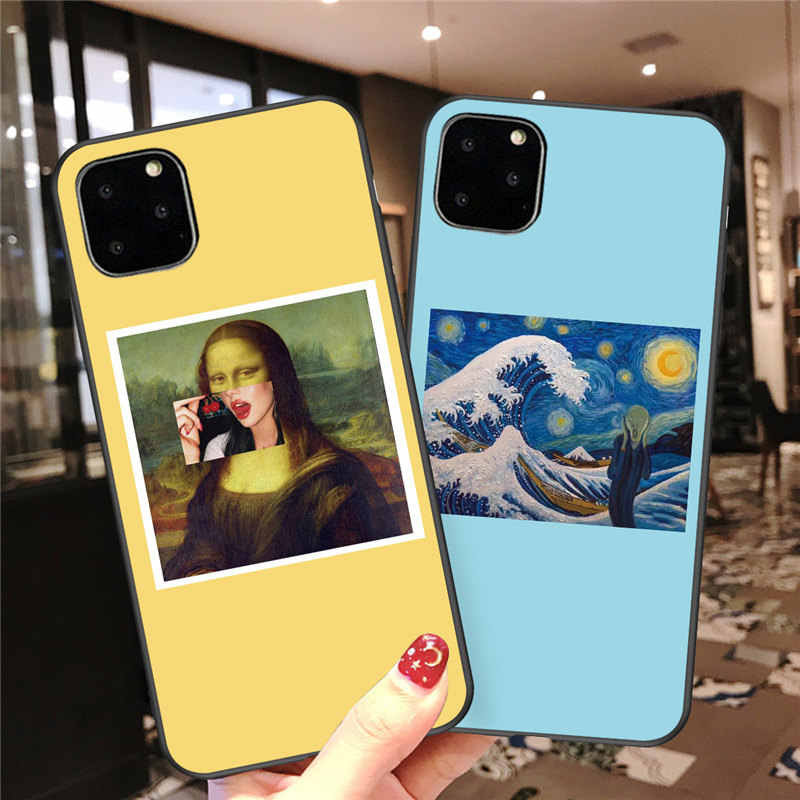 Lovebay For iPhone 11 Case Art Abstract Paintings For iPhone 11 Pro X XR XS Max 7 8 6 6s Plus 5 5s SE Soft TPU Phone Case Cover