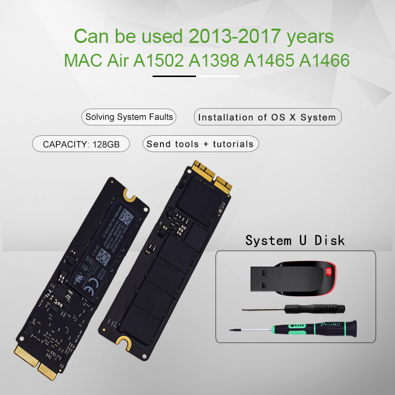 Original 128GB SSD For 2013 2014 2015  Macbook Pro Retina A1502 A1398 Macbook Air A1465 A1466 SSD Solid State Disk MAC Ssd
