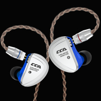 CCA C16 Earphone Headset 8BA Drive Units HIFI Monitoring In Ear Earphone 8 Balanced Armature With Detachable Detach 2 PIN Cable