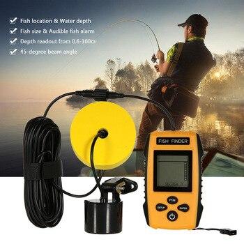 Новый портативный интеллектуальный эхолот lcd эхолот для рыбной ловли, инструменты для рыбалки, эхолот для рыбалки на русском, инструмент дл...