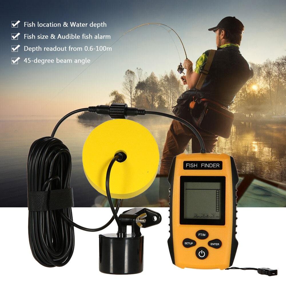 Nowy przenośny inteligentny Sonar LCD wykrywacze ryb narzędzia połowowe echosonda do łowienia w rosyjskim głębszym zimowym narzędzie połowowe