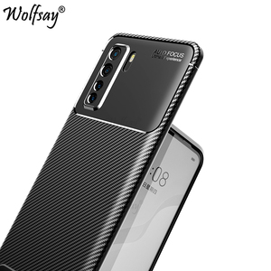 For Huawei P40 Lite 5G Case Anti-Knock Silicone Carbon Fiber Cover For Huawei P40 Lite 5G Phone Case Huawei P40 Lite 5G Shell