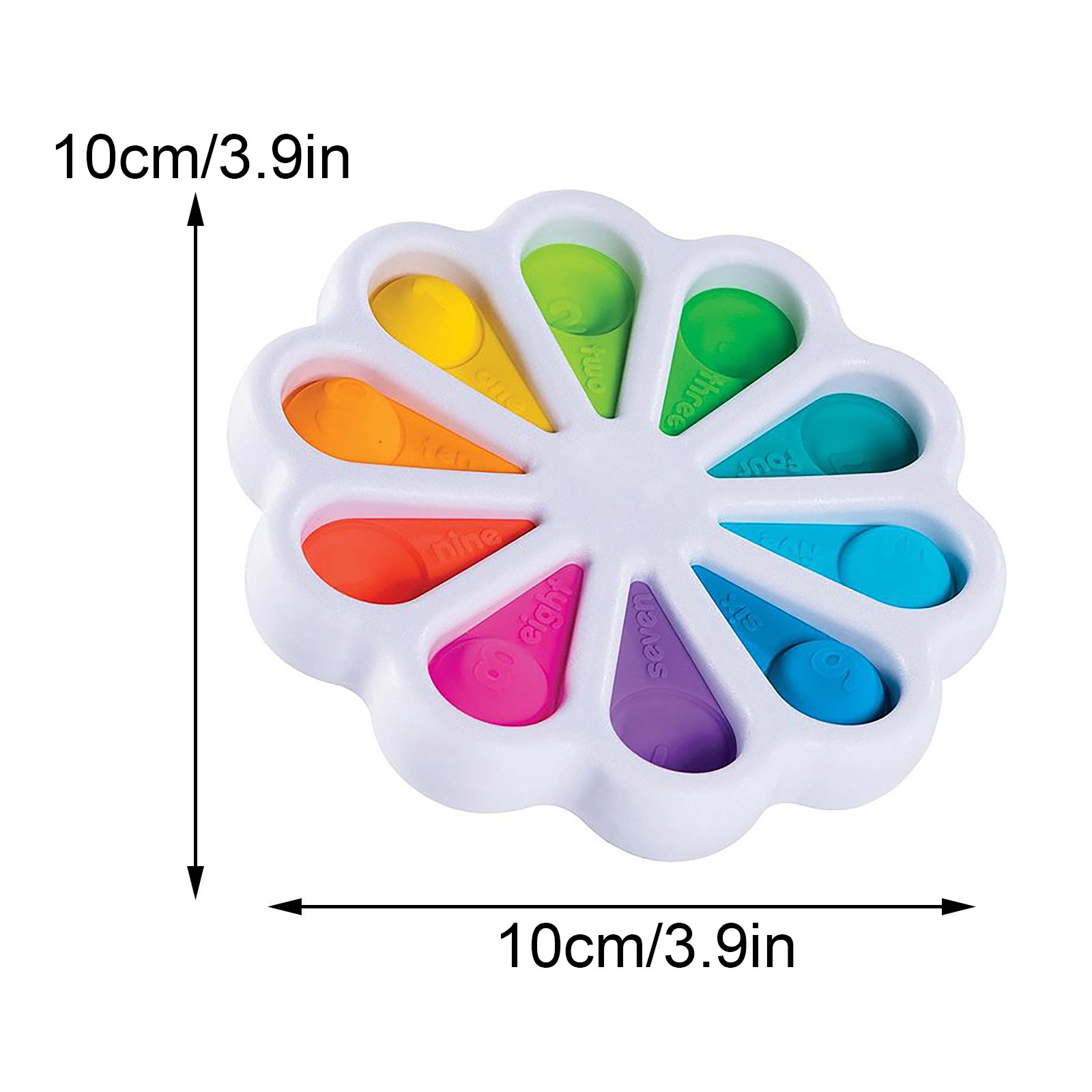 Fidget Simple Dimple Toy Flower Fidget Toys Stress Relief Hand Toys Early Educational img2