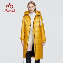 Astrid 2020 New Winter Women's coat women warm long parka fashion yellow thick Jacket hooded large sizes female clothing ZR-3568