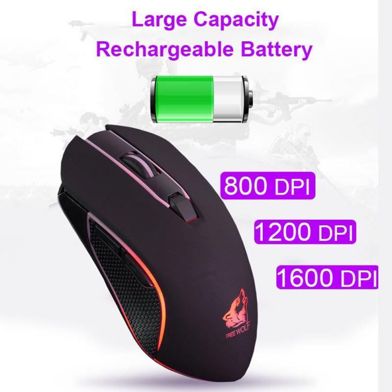 USB Rechargeable X9 Wireless Mouse 1800DPI Silent LED Backlit Optical Ergonomic Design Gaming Mouse Computer Peripherals