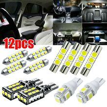 12 Stks/set Voor Chevy Silverado 1500 2500 2007-13 Wit Interieur Led Klaring Licht Combinatie Indoor Leeslamp