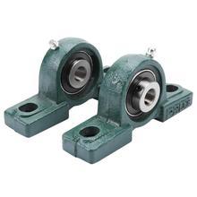 2Pcs מזהה 25mm OD 52mm כרית נושאות UCP205 25mm עצמי יישור כרית בלוק Bearing רכוב יחידת נושאות