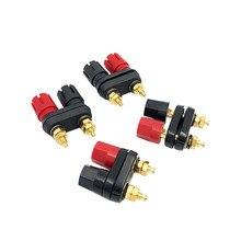 Conector tipo Banana de alta calidad, amplificador de conector, conector tipo Banana para altavoz Jack, color rojo y negro