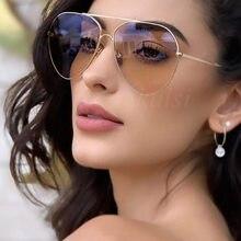 Lunettes de soleil rondes de luxe pour hommes et femmes, modèle pilote rose Chic des années 90, de styliste australien, pour la conduite, pour l'été, UV400, 2020