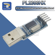Pl2303 adaptador de usb para rs232 ttl, pl2303hx stc microcontrolador escova máquina placa