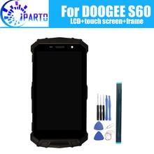Doogee s60 display lcd + digitador da tela de toque assembléia quadro 100% original novo lcd digitador toque para doogee s60 ferramentas