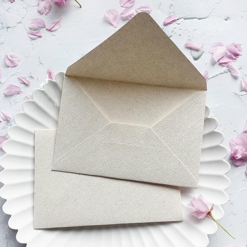 5pcs Burlap Texture Envelopes Stationery Paper Gift Craft For Wedding Planner Invitation Letter