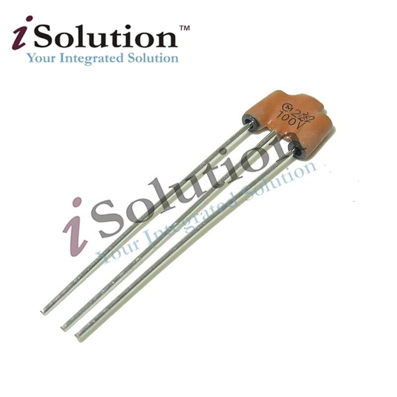Filtre à trois extrémités, EMI 2200PF 2.2NF 100V 222 6A, bruit statique, neuf et Original