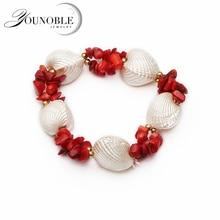 Beautiful Pearl Shell Bracelet Women,colorful Adjustable Girl Birthday Gift