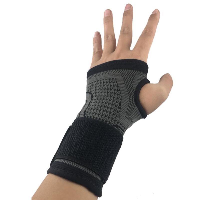 AOLIKES 1 Uds soporte para muñeca para deportes de ciclismo con compresa de vendaje elástico para Fitness Gym Weightlifting protector de palmas