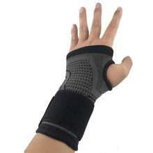 AOLIKES 1PCS Cycling Sport Wrist Support Brace With Elastic Bandage Compress For Fitness Gym Weightlifting Hand Palm Protector(China)