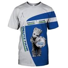 Deutz-camisa com estampado 3d de para homem, camisa divertida de manga corte, camisas informales de moda, roda de marca