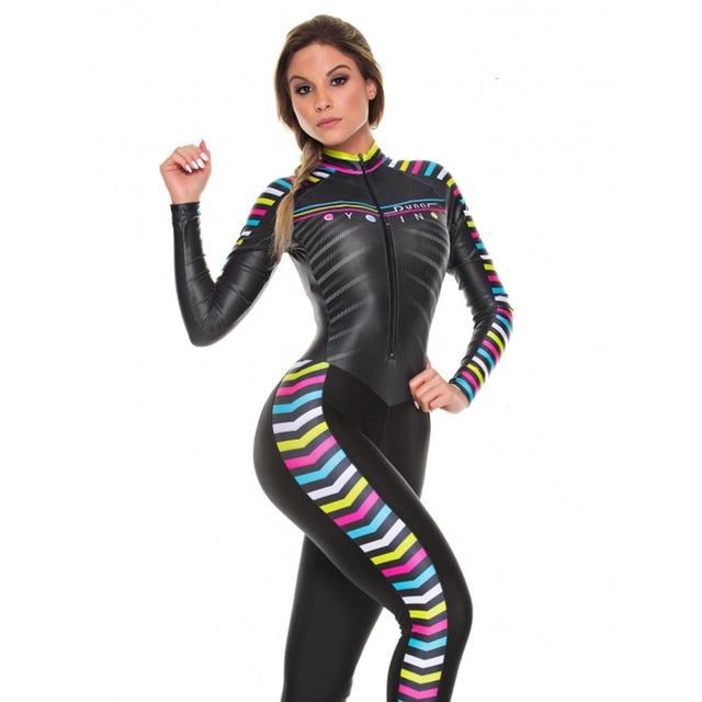 2019 pro equipe triathlon terno feminino camisa de ciclismo skinsuit macacão maillot ciclismo ropa ciclismo conjunto manga longa almofada gel 013 1