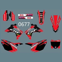 Full Graphics Decals Stickers Custom Number Name Glossy Bright Stickers Waterproof for HONDA CRF450 2013 2014 CRF250 2014-2016 h2cnc graphics decal sticker for honda crf250r crf250 2014 2016