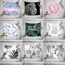 Tapestry Polyester Wall Hanging Large Carpet Blanket Home Decor Beach Mat Bedroom Art Scenic Carpet Hanging