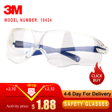 3M 10434 защитные очки ударопрочность линзы очки Анти-туман устойчивость к царапинам УФ-защита очки