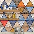 10/15/20/30 см Ретро треугольники плитка в полоску настенные наклейки Ванная комната Кухня Холодильник дверь украшение обои водонепроницаемый ...