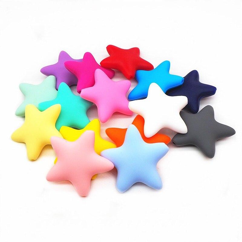 Chenkai 10 pièces étoile nuage Stich Silicone perles de qualité alimentaire bricolage infantile soins infirmiers dentition sensoriel collier jouets accessoires sans BPA