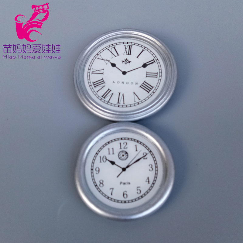 Charm Clock For Doll House Diy Use Accessories For 1/6 1/8 Bjd Doll For Barbie Blyth Doll