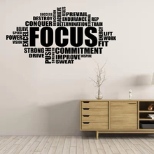Focus Wall Decal Motivational Sign Gym Quote Word Poster Fitness Sport Vinyl Sticker Inspirational Bedroom HomeGym Decor gym fitness wall sticker motivational quote vinyl art decal removable home room decor