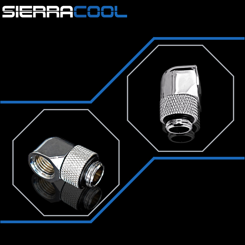 Купить с кэшбэком G1/4'' Thread 90 Degree Rotary Fittings, Seasonal Hot Sales,One Of The Most Practical Water Coolling Fittings