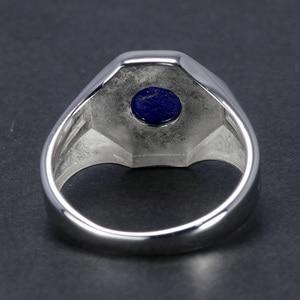 Image 5 - De Originelen 925 Sterling Silver Vampire Ringen Met Natuurlijke Lapis Lazuli Steen Damon Stefan Heren Punk Sieraden