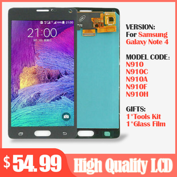 Original 5.7'' LCD Display for SAMSUNG Galaxy Note 4 Note4 N910 N910C N910A N910F N910H LCD Display +Touch Screen Digitizer Part