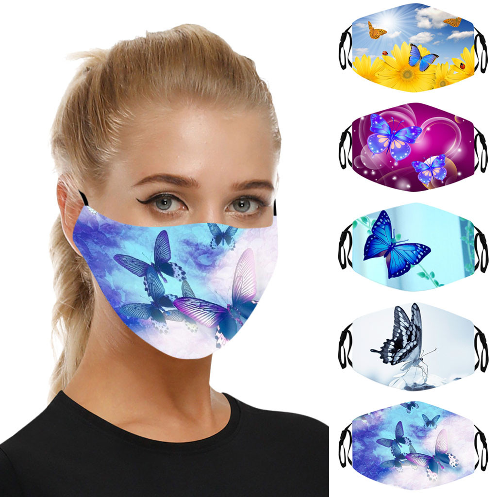Outdoor Comfortable Filters Adjustable Reusable Cotton Mouth Face Cover Anti-droplets Splash-proof Filter Windproof In Stock