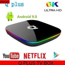Q PLUS TV BOX Smart Android 9.0 TV Box  H6 Quad Core 4GB RAM 32/64GB ROM 6K H.265 2.4G WiFi Box Set Top Box Media Player mx10 smart tv box android 8 1 rockchip rk3328 ddr 4 gb ram 64gb rom iptv smart set top box 4k usb 3 0 hdr h 265 media player box