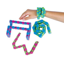 24 Links Snake Puzzles Classic Sensory Toy Wacky Tracks Snap and Click Fidget Decompression Toys Kids Autism