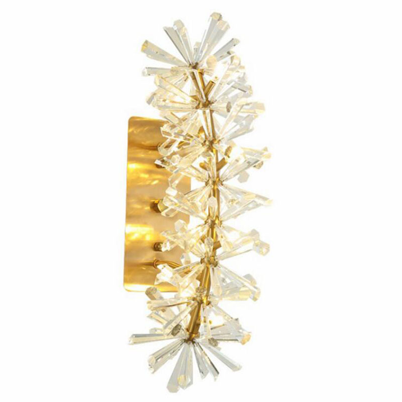 Luxury Wall Sconce Lighting Luxury Living Room Bedroom LED Crystal Wall Lamp New Arrival Wall Decor Gold Light Fixtures