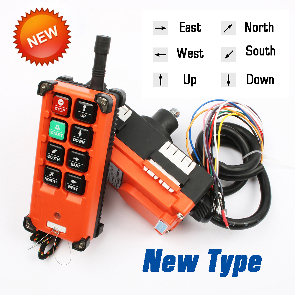220V 380V 110V 12V 24V Industrial Remote Controller Switches  Hoist Crane Control Lift Crane 1 Transmitter + 1 Receiver F21-E1B