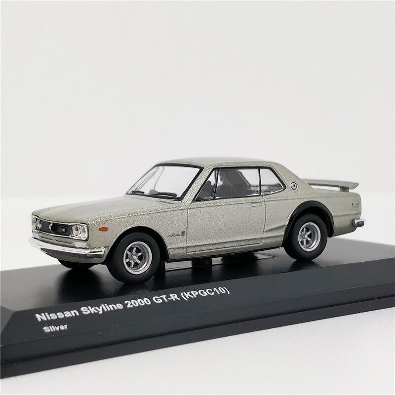 Kyosho 1:64 Nissan Skyline 2000 GTR (KPGC10) Silver Diecast Model Car